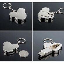 USB флеш-накопитель сердце Мода 16 ГБ 32 ГБ 64 ГБ 4 ГБ серебряный металлический флеш-накопитель Флешка Usb флешка диск горячий подарок