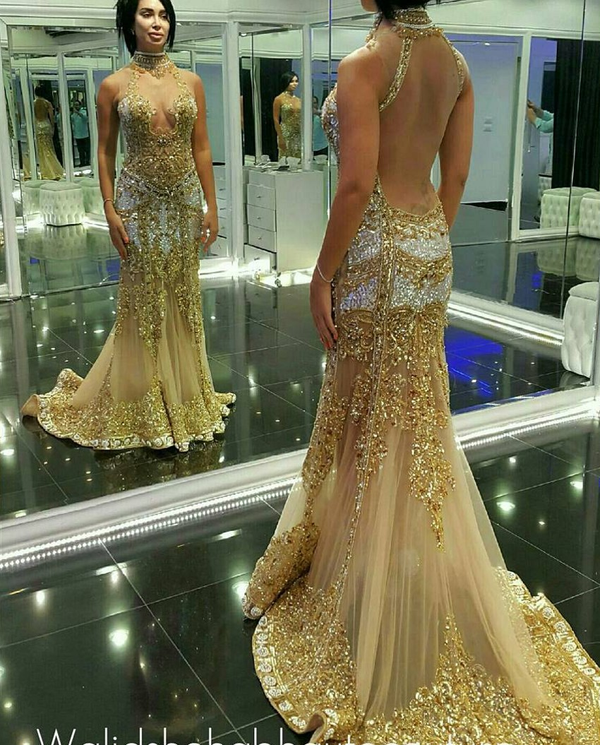 Mermaid gold dresses