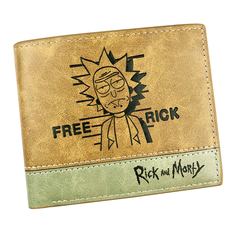 Hot Sell Men Wallet Rick And Morty/Totoro/Mass Effect/Undertale/Zelda/Naruto/One Piece/Fairy Tail Short Wallets Women Purse