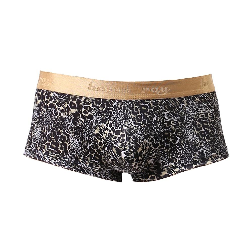 Men's Underwear Golden-Rim Comfortable Boxer Leopard Sexy Printed Casual New Fashion