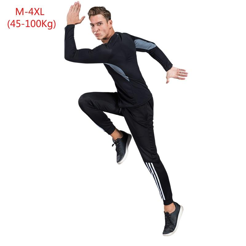 2019 printemps automne hommes ensembles survêtement deux pièces ensembles pull à capuche Omni pantalons secs hommes costume sportwear mâle Hoodies taille 4XL