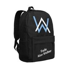Fade Alan Walker Backpack Men Travel Shoulder Rucksack High School Students Bookbag Faded