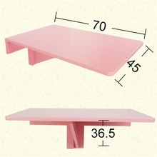 70*45CM Modern Rectangular Laptop Table Wall Mount Dining Table Solid Wood Folding Table Wall Hanging Coffee Table