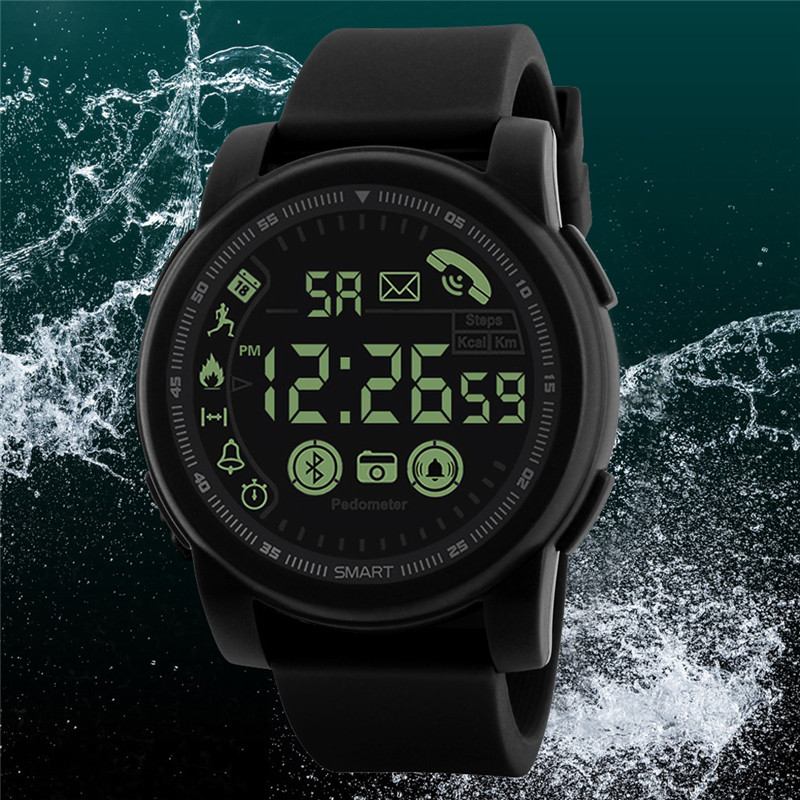 Fitness Tracker Waterproof Bluetooth <font><b>Smart</b></font> <font><b>Watch</b></font> Sport Pedometer for Android iOS <font><b>2019</b></font> <font><b>New</b></font> Man Fashion <font><b>Smart</b></font> <font><b>Watch</b></font> Multifunction image