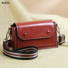 AOEO Luxury Women Shoulder Bags Double Strap Magnet Buckle Flap Top Split Leather Ladies Bag Design Female Messenger