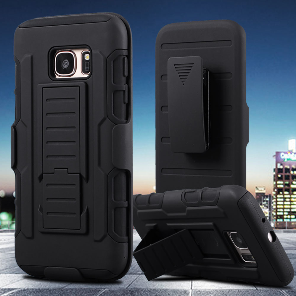 For Samsung Galaxy A5 2016 Case 3 in 1 Armor Belt Clip Holster Stand Shockproof Case For Samsung Galaxy S7 Edge S6 Edge J5 Cases