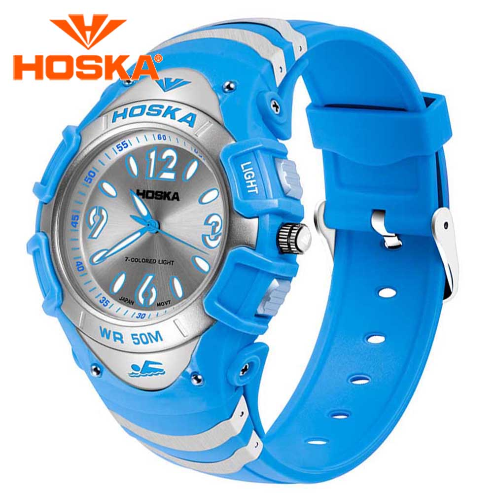 Brand HOSKA children s watches Kids Quartz watch sport outdoor waterproof relogio masculino Quartz watch h804