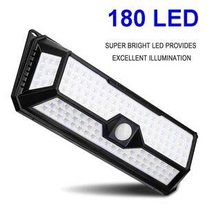 Image 2 - 180/136 LED Garden Solar LED Lights 1500LM Outdoor Solar Lamp Motion Sensor 320 Degree Waterproof IP65 Solar Security Light