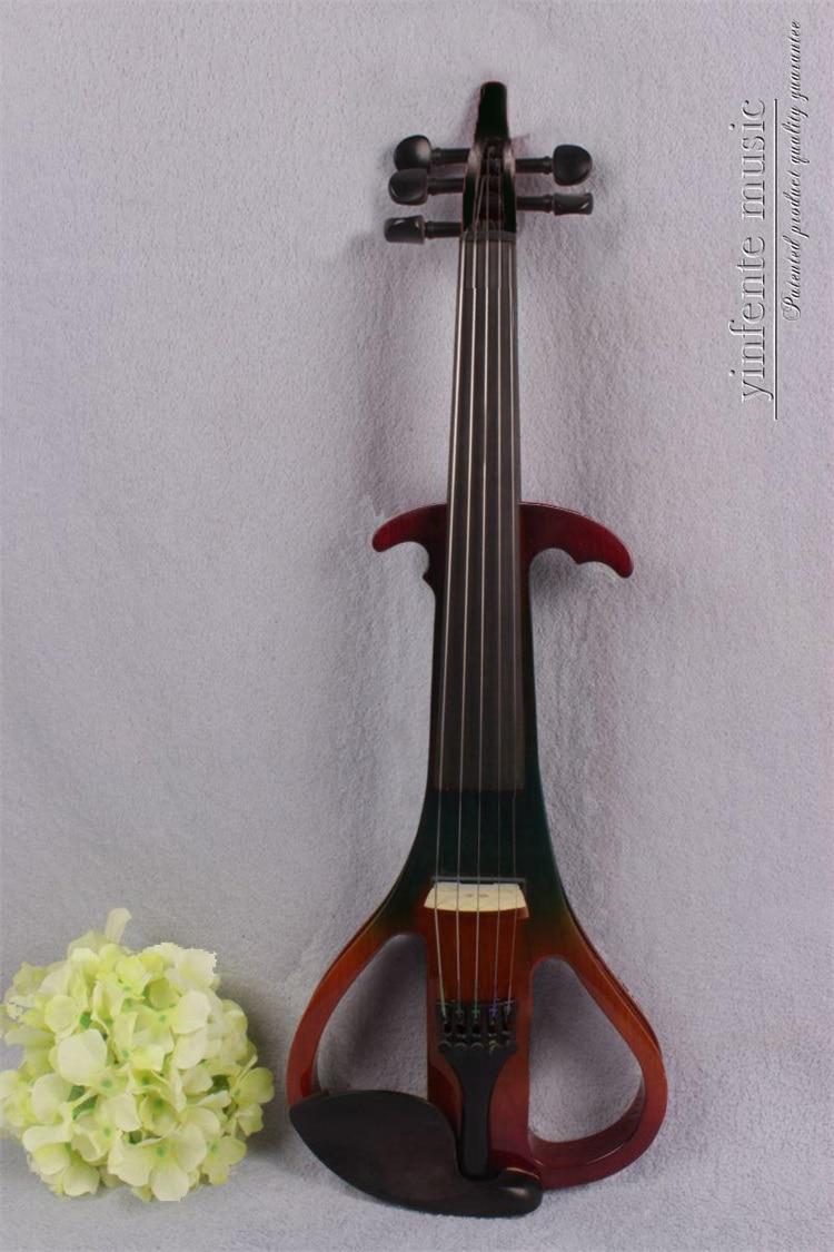 4/4 High quality 5 Strings Electric violin 4 4 high quality 5 string electric violin yellow 2 pickup violin
