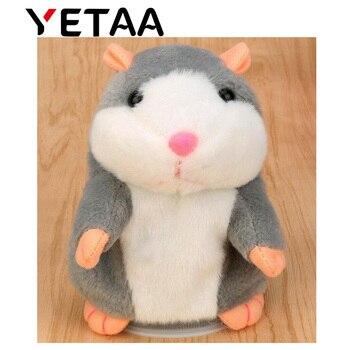 YETAA Doce Cutie Animais Falando Brinquedos para Crianças Stuffed & Plush Bonecas de Brinquedo Falando Hamster Gravação de Som Hamster Presente Querido