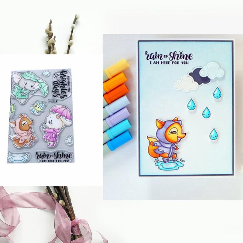 Rainy Animals Clear Silicone Stamp Transparent DIY Scrapbooking Card Album Making Crafts Embossing Stencil New 2019