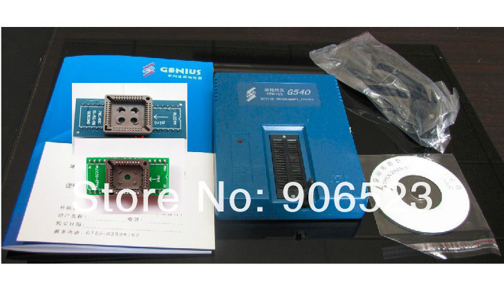 free shipping GENIUS G540 EPROM MCU GAL PIC USB universal programmer + 2 adapters PLCC44 and PLCC32-in Power Tool Sets from Tools    1