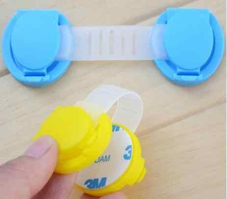 3 ชิ้น/ล็อตประตูตู้ลิ้นชักตู้เย็นยาว Bendy พลาสติกล็อคความปลอดภัยเด็กทารกเด็กความปลอดภัย
