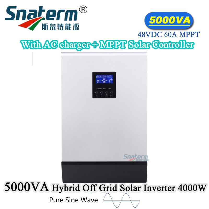 Hybride 5.5 kW Onduleur Chargeur sur grille//OFF GRID 48VDC 2x MPPT 500VDC avec Wi-Fi
