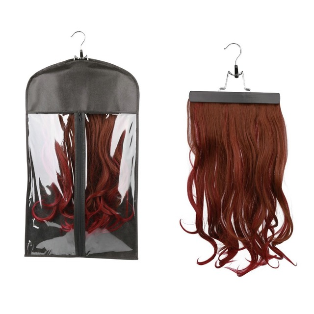 Hair extensions carrier storage non woven suit case bag package hair extensions carrier storage non woven suit case bag package with wooden hanger for virgin pmusecretfo Image collections
