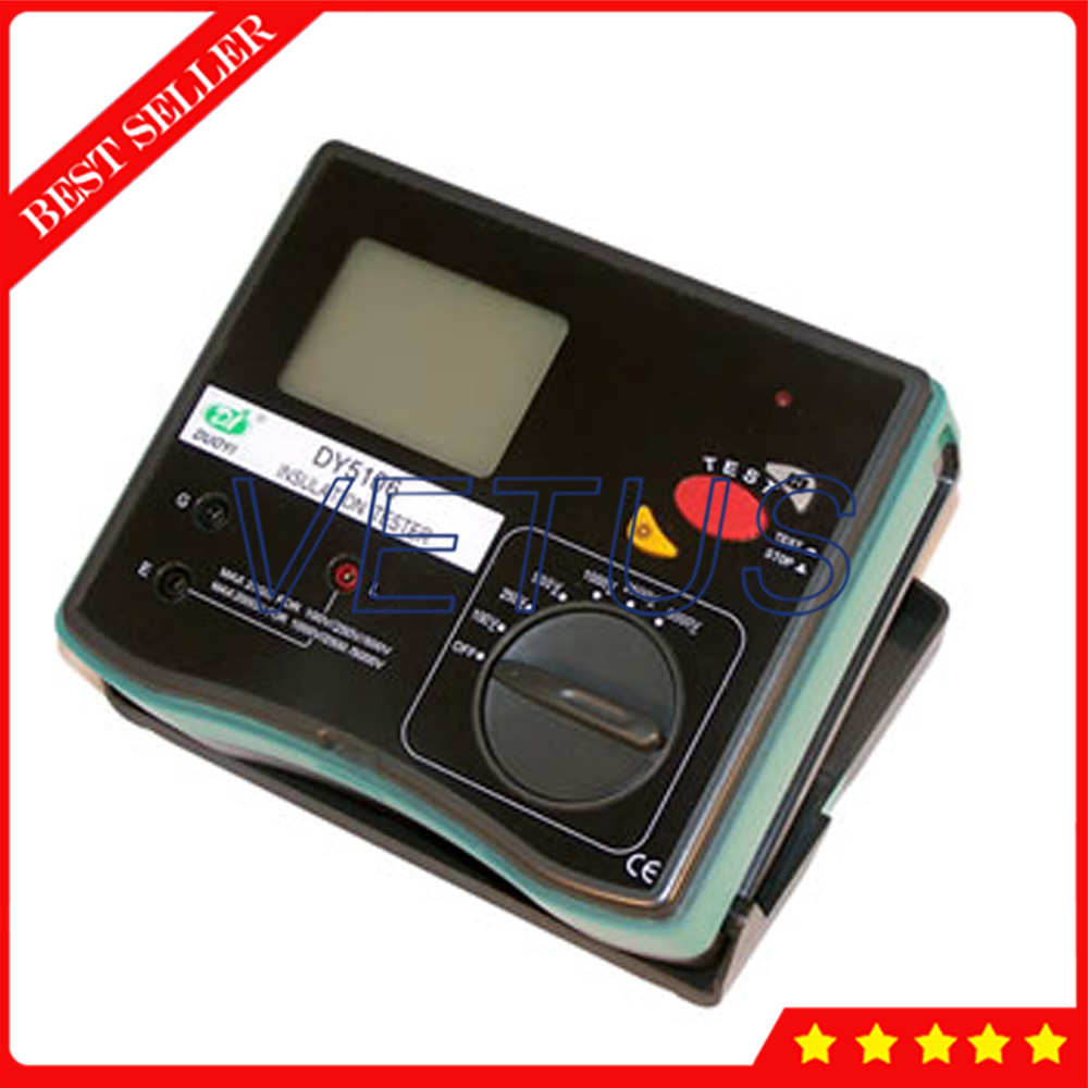 DY5106 Digital LCD Backglight 5000V Insulation Resistance Tester With Auto range Data hold Function Insulation Tester