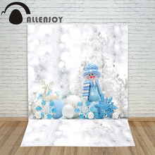 Allenjoy christmas photography New Year's backdrop Snowflake snowman reindeer children's camera photocall photo background