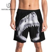 2019 New 3D Animal Print Men Beach Short Shorts Exercise Boardshorts Shark Printed Beach Building Short Pants Plus Size Surfing