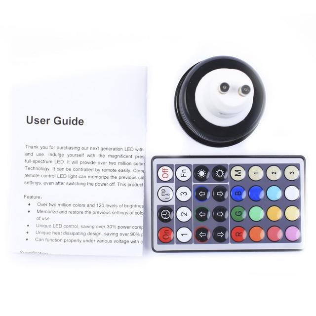 Wholesale 4w RGB LED spots GU10 85-265V Dimmable LED Light Remote Controll LED Lamps EMS Free Shipping 25pcs/lot