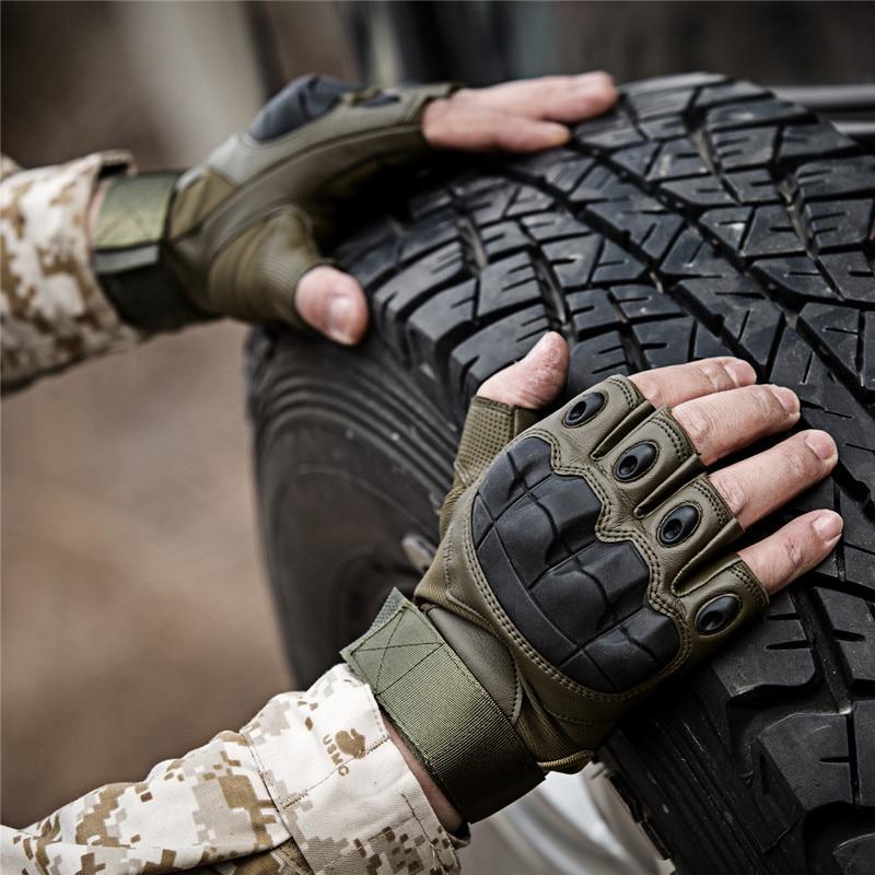 Armee Tactical Fingerlose Military Fest Knuckle Half Finger Handschuhe Airsoft Paintball Fahrrad Schießen Gleitschutz Schutz Für Männer