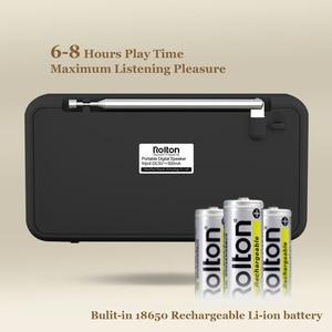 Image 2 - Rolton E500 Tragbare Stereo Bluetooth Lautsprecher FM Radio Bass Dual Lautsprecher TF Karte USB Musik Player (Schwarz)