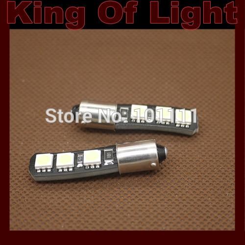 10x Auto Led Canbus Ba9s 6 led smd 5050 obc error free no error LED Light Lamp Bulb Free shipping