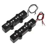 זוג של 4 קונטרבס גשר איסוף צוואר סט טנדרים גיטרה בס JB ג 'אז שחור בסגנון פתוח