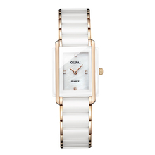 OUPAI Ceramics Rose Gold Watch Women Quartz Watches Ladies Top Brand Luxury Female Wrist Watch Girl Clock Relogio Feminino
