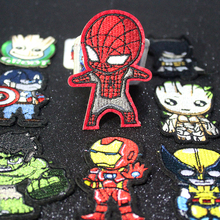 Pulaqi Spiderman Patch For Clothes The Avengers Patches Clothing Stickers Iron-on Cartoon Parche marvel F