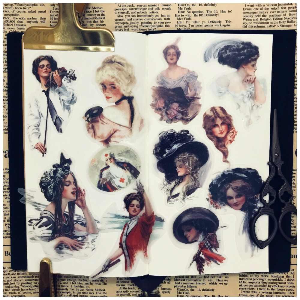 Lovely Alice Girl Stickers Children DIY Scrapbooking Album
