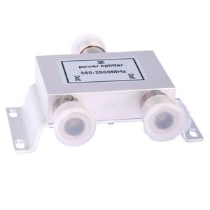Image 5 - Gorąca rozdzielacz koncentryczny 1 do 2 sposób zasilania Splitter 380 2500 MHz wzmacniacz sygnału dzielnik N żeńskie 50ohm dla antena 4g