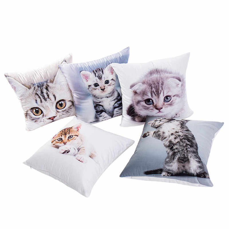 2018 Gajjar Cat Print Pillow Cases Polyester  Home
