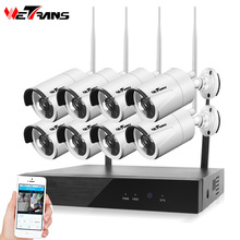 Wetrans CCTV Security Camera System Wireless NVR Kit 1080P 8CH Home HDD WIFI Video Surveillance Outdoor IP Camera Set Waterproof
