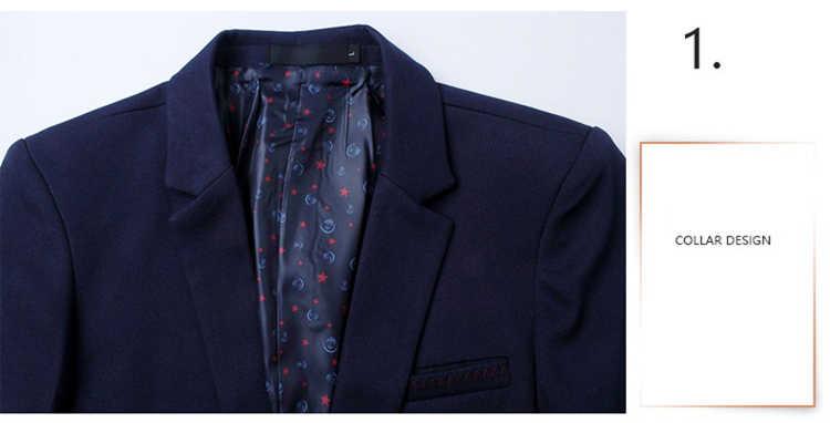Марка mwxsd мужской повседневный приталенный однотонный костюм Блейзер Куртка Мужская Свадебная одежда Блейзер Мужской черный костюм hombre Блейзер masculino