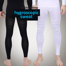 New 2019 Men carry buttock high elastic ankle length pants GYM shape model body shaping training tight black/white legs