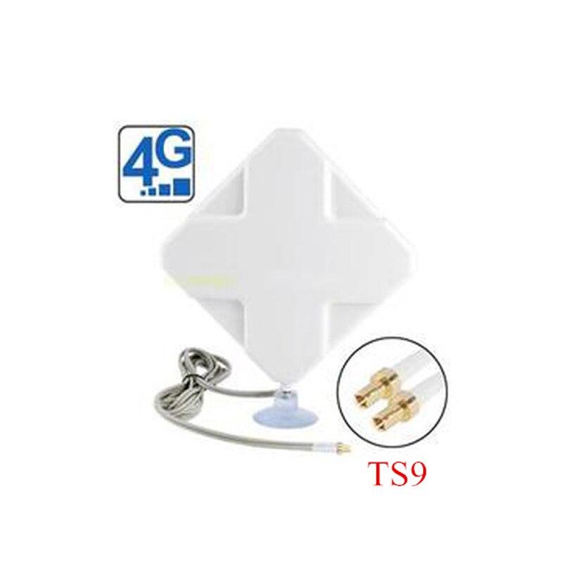 4G 35DBI Deux TS9 Mimo Antenne pour 4G Modems USB Huawei E5776 E859 E8278 2 m CÂBLE