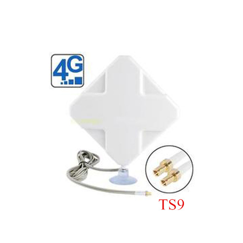 4G 35DBI Two TS9 Mimo Antenna for USB Modems Huawei E5776 E589 E8278 2m CABLE