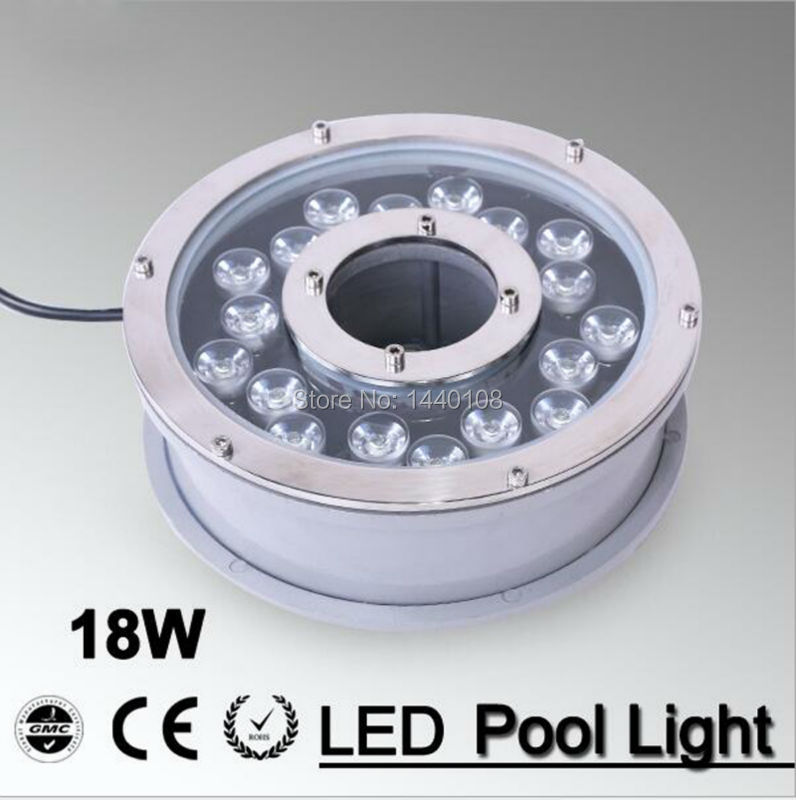 2pcs RGB 18W Swimming Pool Led Light DC12V Waterproof IP68 Underwater Spotlights/Fountain/Pool Light Fontaine Eclairage Piscine underwater lights rgb led swimming pool light 24v ip68 waterproof 27w 316 stainless steel colorful changeable fountain lamp