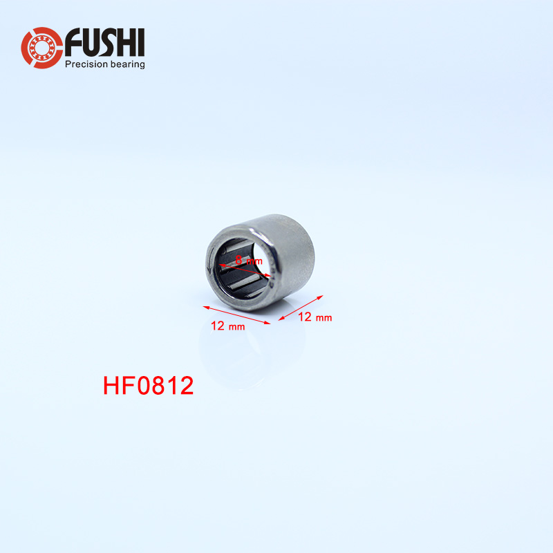 <font><b>HF0812</b></font> Bearing 8*12*12 mm ( 10 PCS ) Drawn Cup Needle Roller Clutch HF081212 Needle Bearing image
