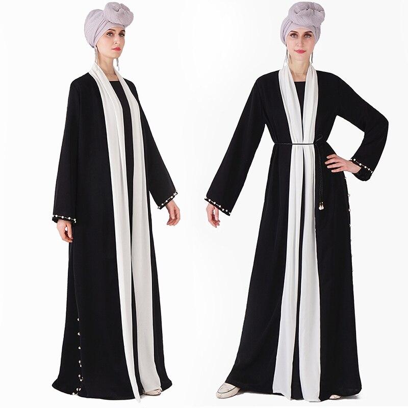 Black Kaftan Abaya Kimono Robe Dubai Turkish Islam Muslim Hijab Dress Abayas For Women Caftan Marocain Jilbab Eid Ramadan Elbise