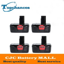 4x High Quality New 19.2V 2000mAh Black Ni-CD Replacement Power Tools Battery for Craftsman DieHard  C3, 11375, 130279005