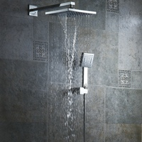 BECOLA Free shipping 8 inch rainfall shower head bathroom handheld shower Waterfall type shower head and shower arm BR 9905