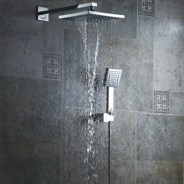 Free shipping 8 inch rainfall shower head bathroom handheld shower ...