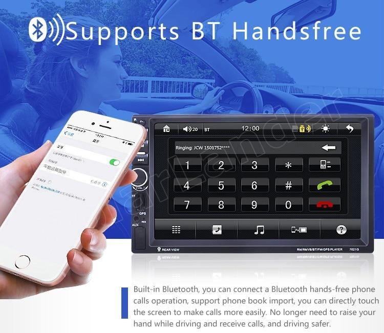 2 din auto Bluetooth 7