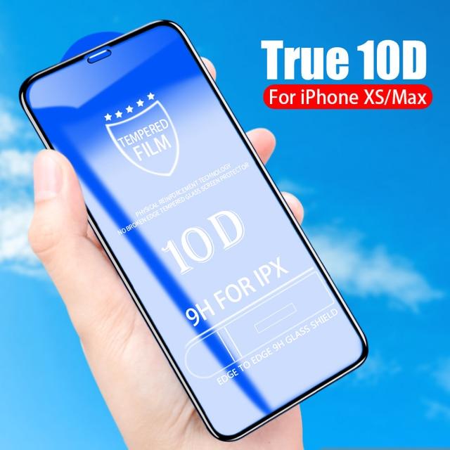 Flanagan 10D Защитное стекло для iphone 6 6S 7 8 Plus X стекло на iphone 7 6 8 X R XS Максимальная Защита экрана для iphone 7 6 s creen