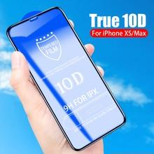 цена Flanagan 10D protective glass for iPhone 6 6S 7 8 plus X glass on iphone 7 6 8 X R XS MAX screen protector for iPhone 7 6 screen онлайн в 2017 году