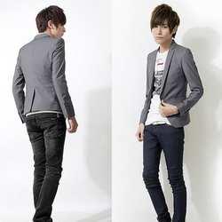 Новая мода Для мужчин Slim Fit Solic Цвет Повседневное костюм Блейзер Пальто Куртки и пиджаки Топ M-XXXL