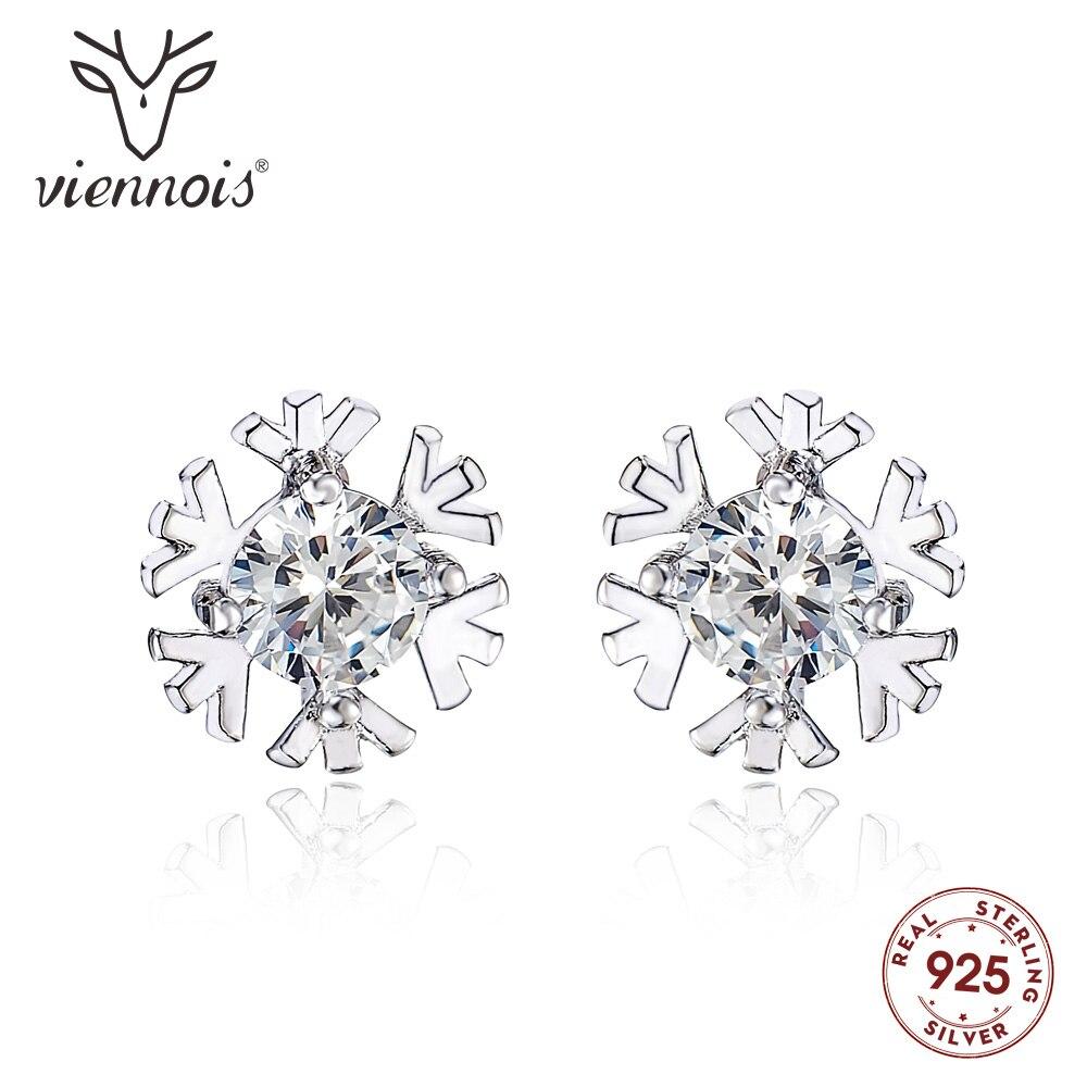 04a2a97b8b US $2.15 35% OFF|Viennois 925 Sterling Silver Glittering Snow Classic Stud  Earrings For women Shiny Austrian Zircon Earrings Fashion Jewelry-in Stud  ...