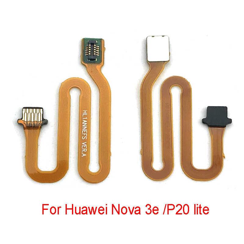 Home Tombol Fingerprint Sensor Konektor Kabel untuk Huawei Kehormatan 8 9 10 7X Mate 20 Pro P10 P20 Lite nova 3 3i P Smart 2019