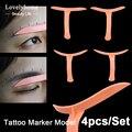 HOT Korea Eyebrow Makeup Stencils Template Model Permanent Tattoo Eye Eyebrow Shaping Drawing Make Up Cosmetic Tool